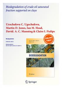 Biodegradation of crude oil saturated fraction supported on clays ...