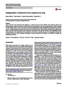Biodegradation of dissolved humic substances by fungi