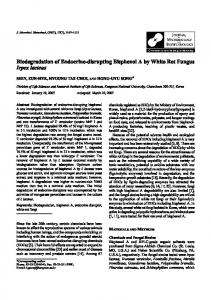 Biodegradation of Endocrine-disrupting Bisphenol A by White Rot ...