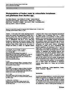 Biodegradation of feather waste by extracellular ... - Springer Link