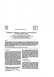 Biodegradation of high phenol concentration by ...
