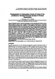 Biodegradation of Hydrocarbon Chains of Crude Oil By-products by ...
