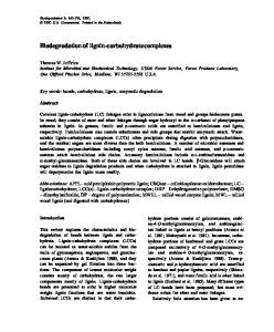 Biodegradation of lignin-carbohydrate complexes - Forest Products ...