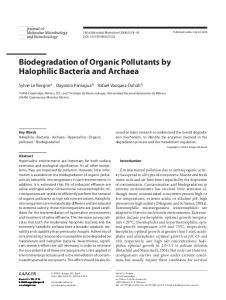Biodegradation of Organic Pollutants by Halophilic ... - Karger Publishers