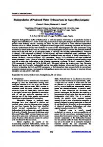 Biodegradation of Produced Water Hydrocarbons by Aspergillus ...