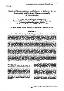 Biodiesel Characterization and Influence of its