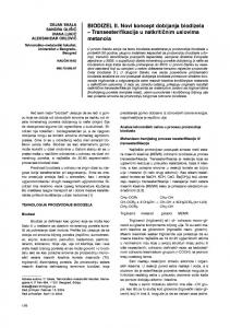 Biodiesel II: A new concept of biodiesel production-transesterification