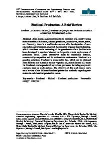 Biodiesel Production. A Brief Review