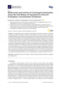 Biodiversity and Activity of Gut Fungal Communities across the ... - MDPI