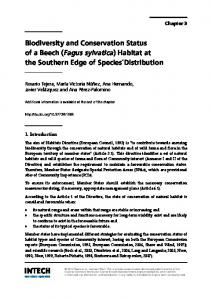 Biodiversity and Conservation Status of a Beech (Fagus sylvatica ...