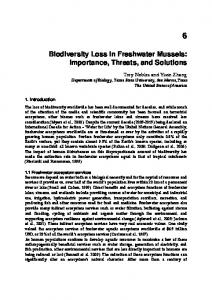 Biodiversity Loss in Freshwater Mussels: Importance ...