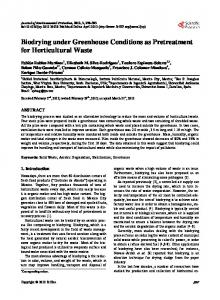 Biodrying under Greenhouse Conditions as Pretreatment for ... - Core
