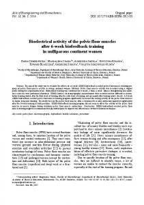 Bioelectrical activity of the pelvic floor muscles after 6-week ...