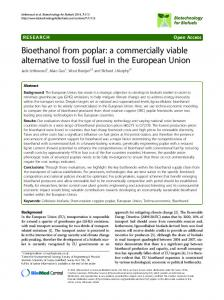 Bioethanol from poplar: a commercially viable alternative to fossil fuel ...