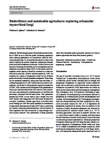 Biofertilizers and sustainable agriculture: exploring