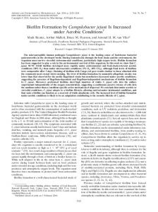Biofilm Formation by Campylobacter jejuni Is Increased under Aerobic ...