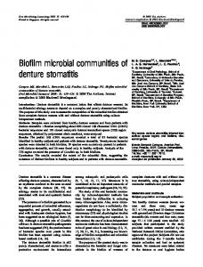 Biofilm microbial communities of denture stomatitis - Wiley Online Library