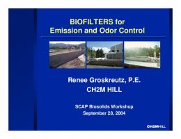 Biofilters for Emission and Odor Control - SCAP