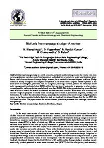 Biofuels from sewage sludge- A review