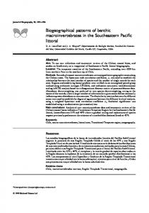Biogeographical patterns of benthic ... - Wiley Online Library