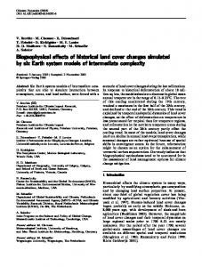Biogeophysical effects of historical land cover changes simulated by ...
