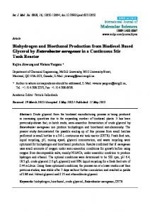 Biohydrogen and Bioethanol Production from ... - Semantic Scholar