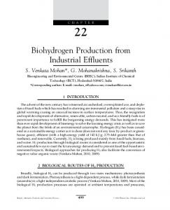Biohydrogen Production from Industrial Effluents