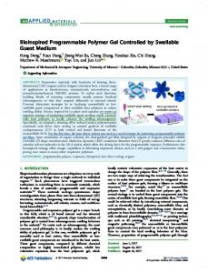 Bioinspired Programmable Polymer Gel Controlled ... - ACS Publications