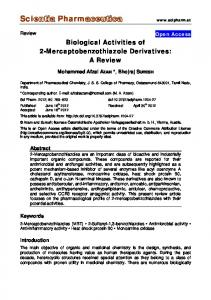 Biological Activities of 2-Mercaptobenzothiazole Derivatives: A Review
