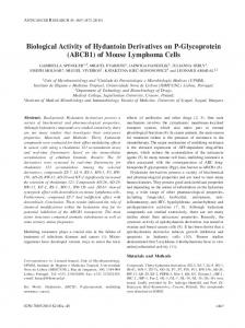 Biological Activity of Hydantoin Derivatives on P-Glycoprotein (ABCB1 ...