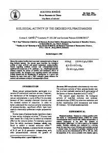biological activity of the oxidized polysaccharides - Revue Roumaine ...