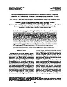 Biological and Biomechanical Evaluations of ... - IngentaConnect