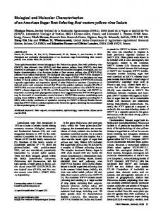 Biological and Molecular Characterization of an ... - PubAg - USDA