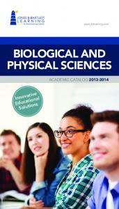 BIOLOGICAL AND PHYSICAL SCIENCES