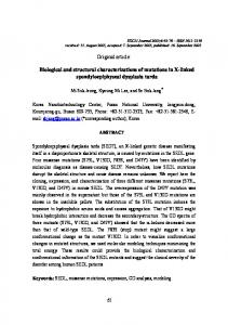 Biological and structural characterizations of ... - EXCLI Journal