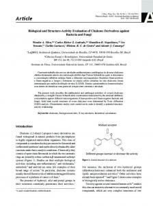 Biological and structure-activity evaluation of chalcone derivatives ...