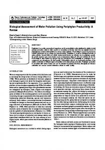 Biological Assessment of Water Pollution Using ...