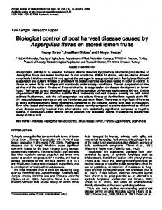 Biological control of post harvest disease caused ... - Academic Journals