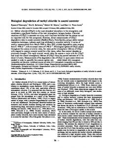 Biological degradation of methyl chloride in ... - Wiley Online Library