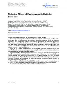 Biological Effects of Electromagnetic Radiation - Hindawi