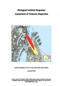 Biological Incident Response: Assessment of Airborne Dispersion