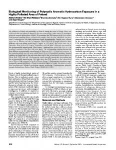 Biological Monitoring of Polycyclic Aromatic Hydrocarbon ... - CiteSeerX