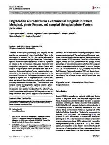 biological, photo-Fenton, and coupled biological ...