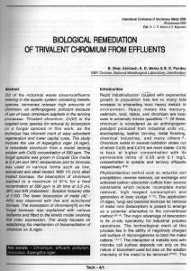 biological remediation of trivalent chromium from