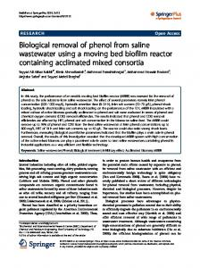 Biological removal of phenol from saline wastewater using ... - CiteSeerX