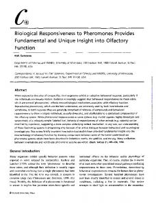 Biological Responsiveness to Pheromones Provides