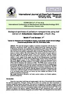 Biological synthesis of palladium nanoparticles using leaf extract of