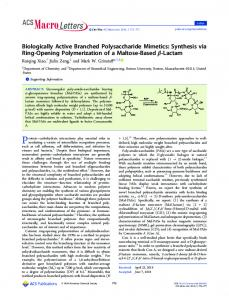 Biologically Active Branched Polysaccharide ... - ACS Publications