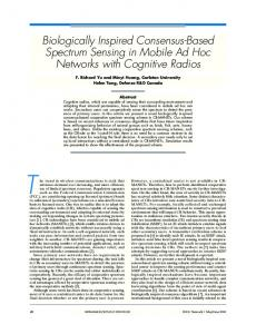 Biologically Inspired Consensus-Based Spectrum ... - IEEE Xplore