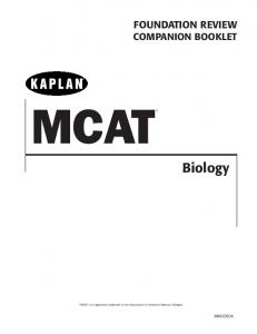 Biology Foundation Review Unit 1 - Kaplan Test Prep
